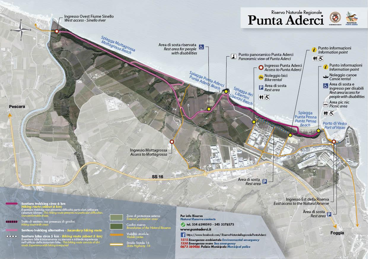 Carta dei Sentieri | Riserva Naturale Regionale Punta Aderci